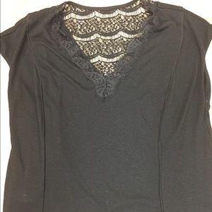 Black shirt cute details